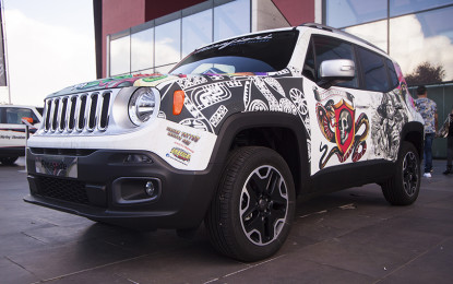 Una Jeep Renegade tatuata!