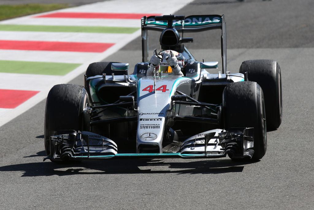 Hamilton-Vettel-Massa nella magia di Monza
