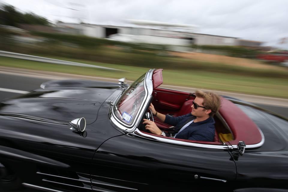 Rosberg guida la 300SL Roadster