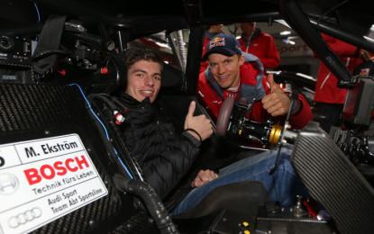Max Verstappen in visita a Mattias Ekström