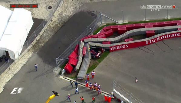 Russia FP3: terribile incidente per Carlos Sainz