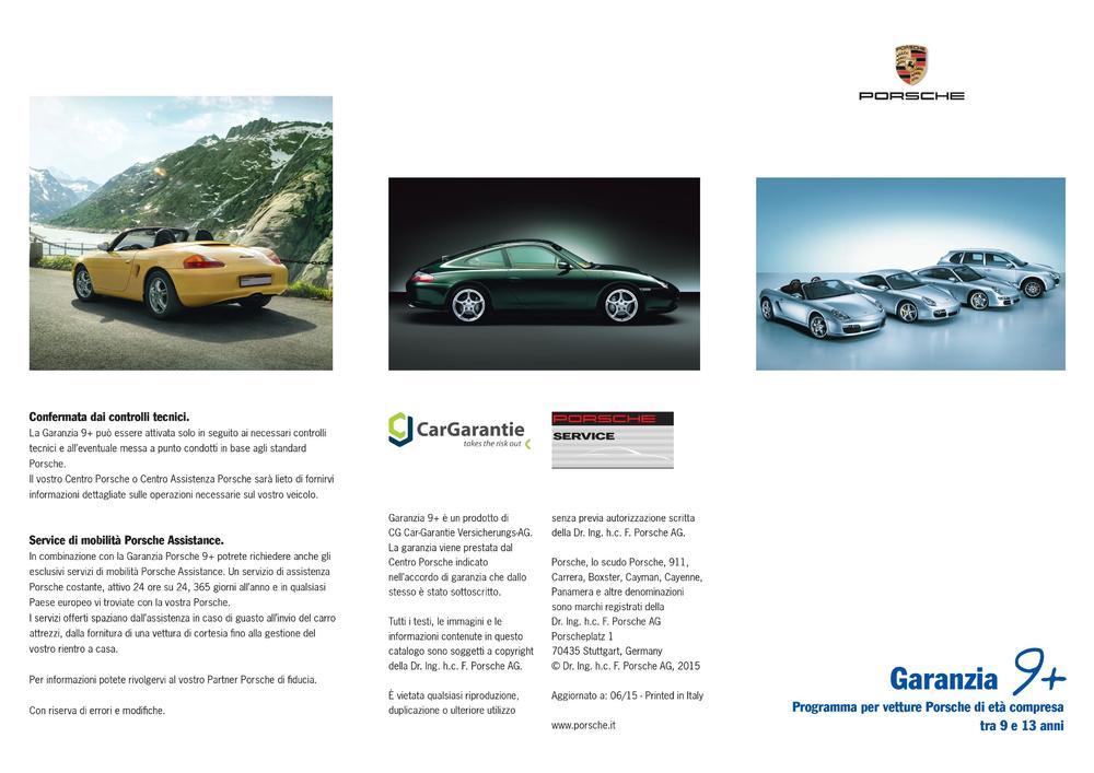 Garanzia 9+, per Porsche tra i 9 e 13 anni