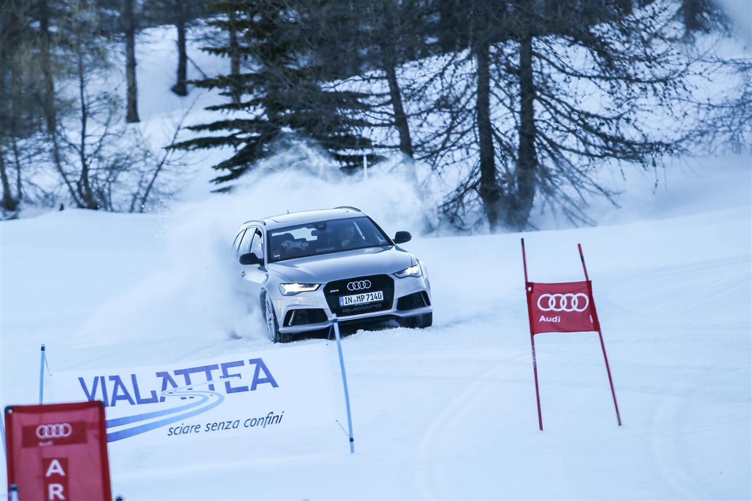 Audi conferma Vialattea Home of quattro