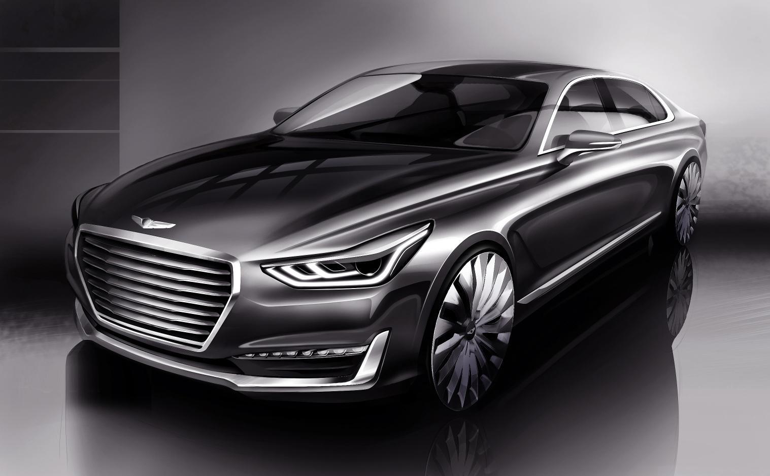 Hyundai: il rendering della G90