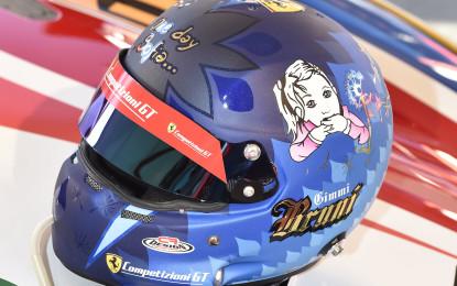 Casco speciale per Bruni in Bahrain