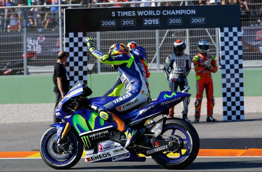 Lorenzo, Rossi e Marquez nel post-gara