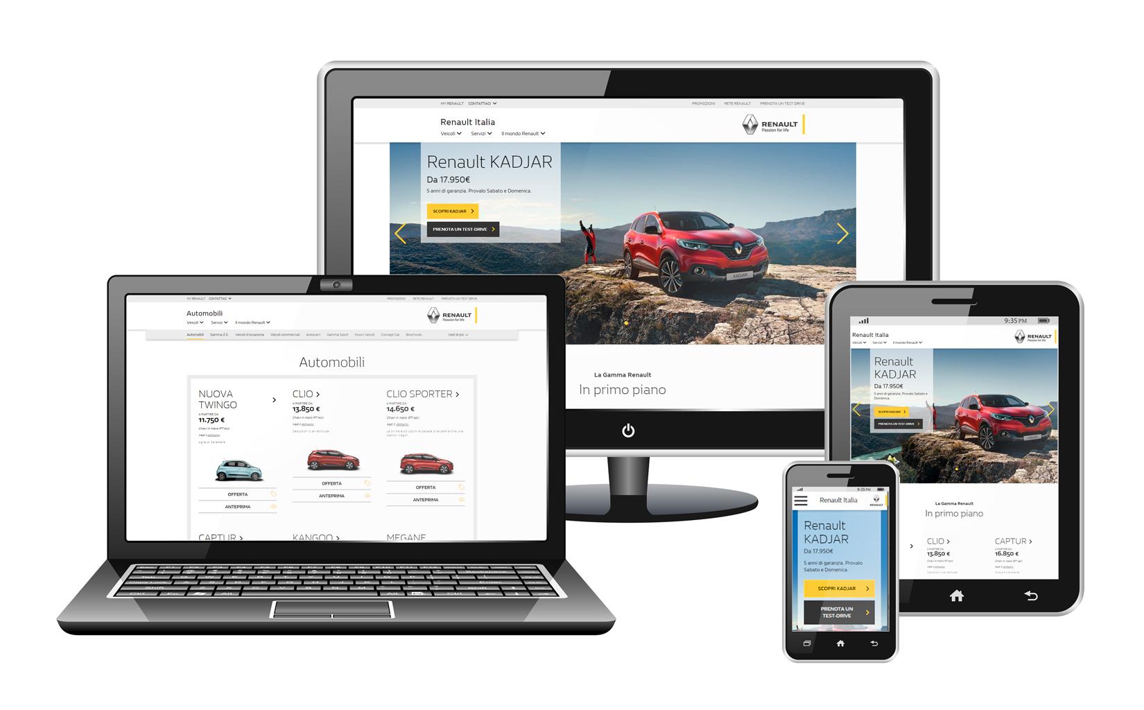 Renault Italia presenta il nuovo sito