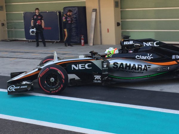 Test Abu Dhabi Sahara Force India