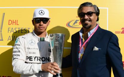 Hamilton wins DHL Fastest Lap Award 2015