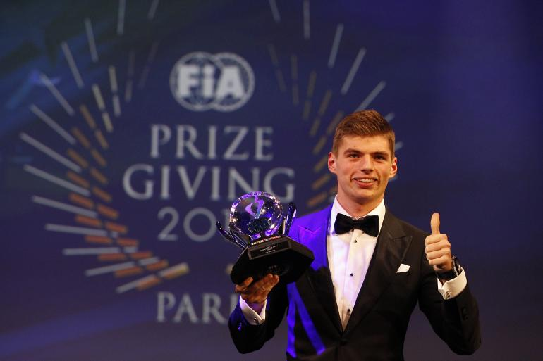 FIA Prize Giving: hat trick di Verstappen