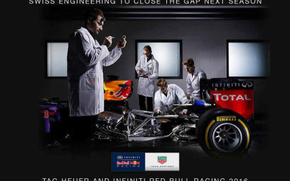 Ufficiale: Red Bull con power unit TAG-Heuer nel 2016