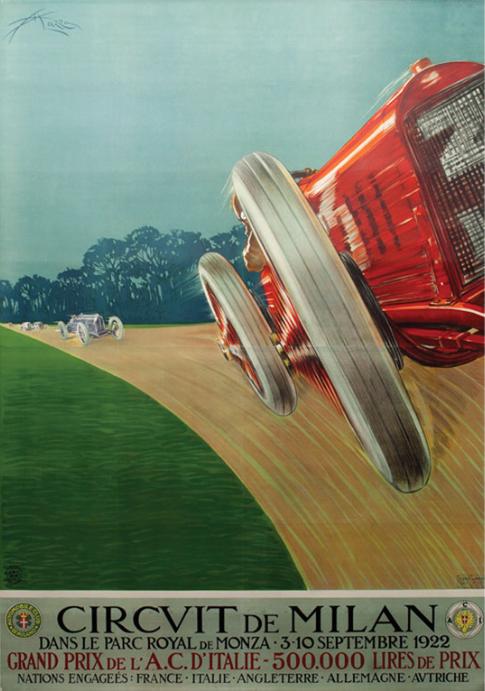 Monza 1922: 57.500 $ per il poster originale