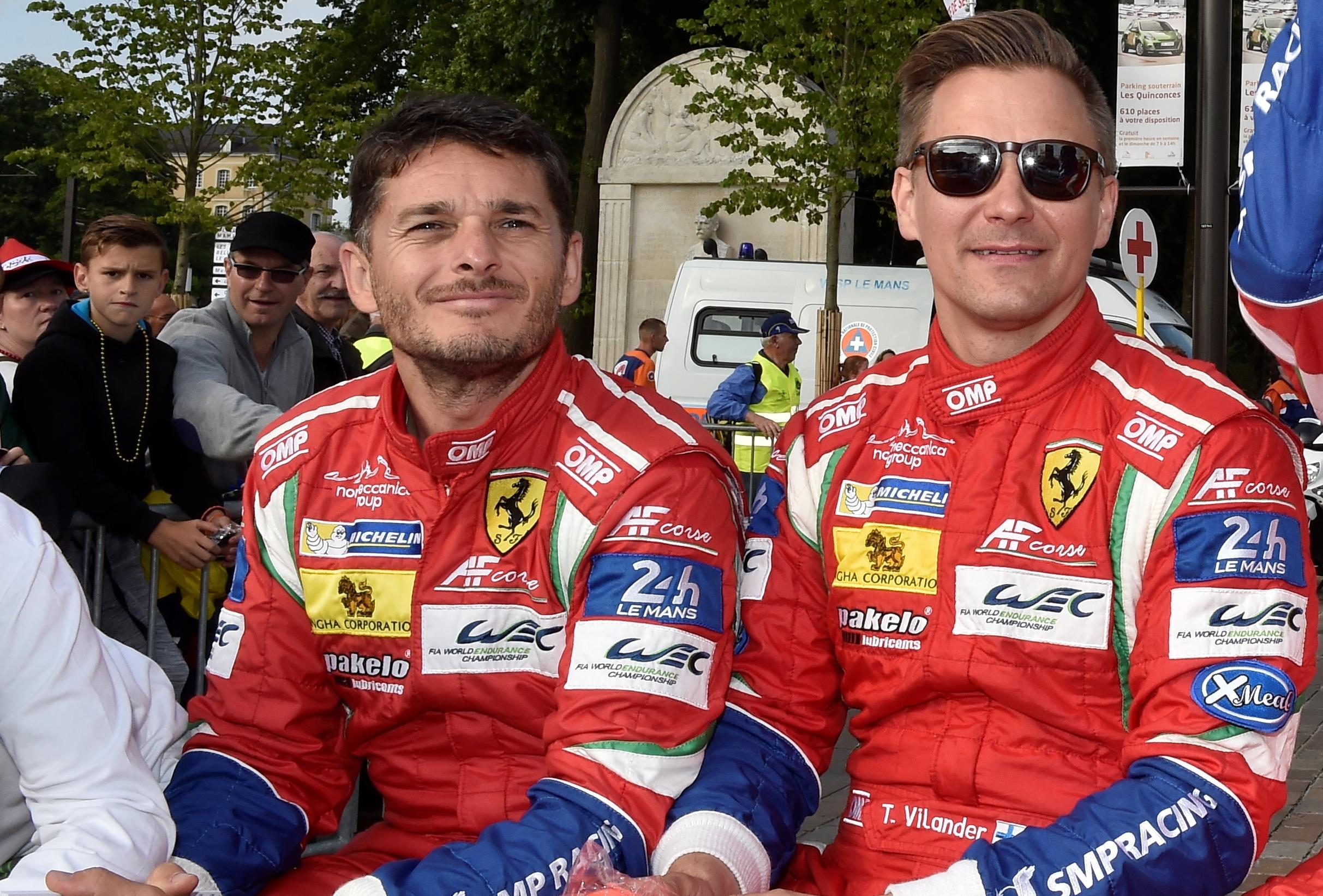 Vilander e Fisichella sulla 488 di Risi Competizione