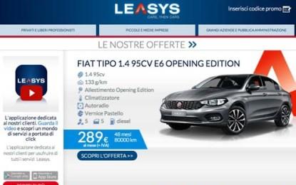 Nuova Fiat Tipo a noleggio con Leasys