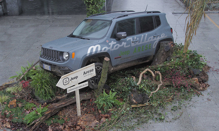 Jeep Renegade diventa una scultura