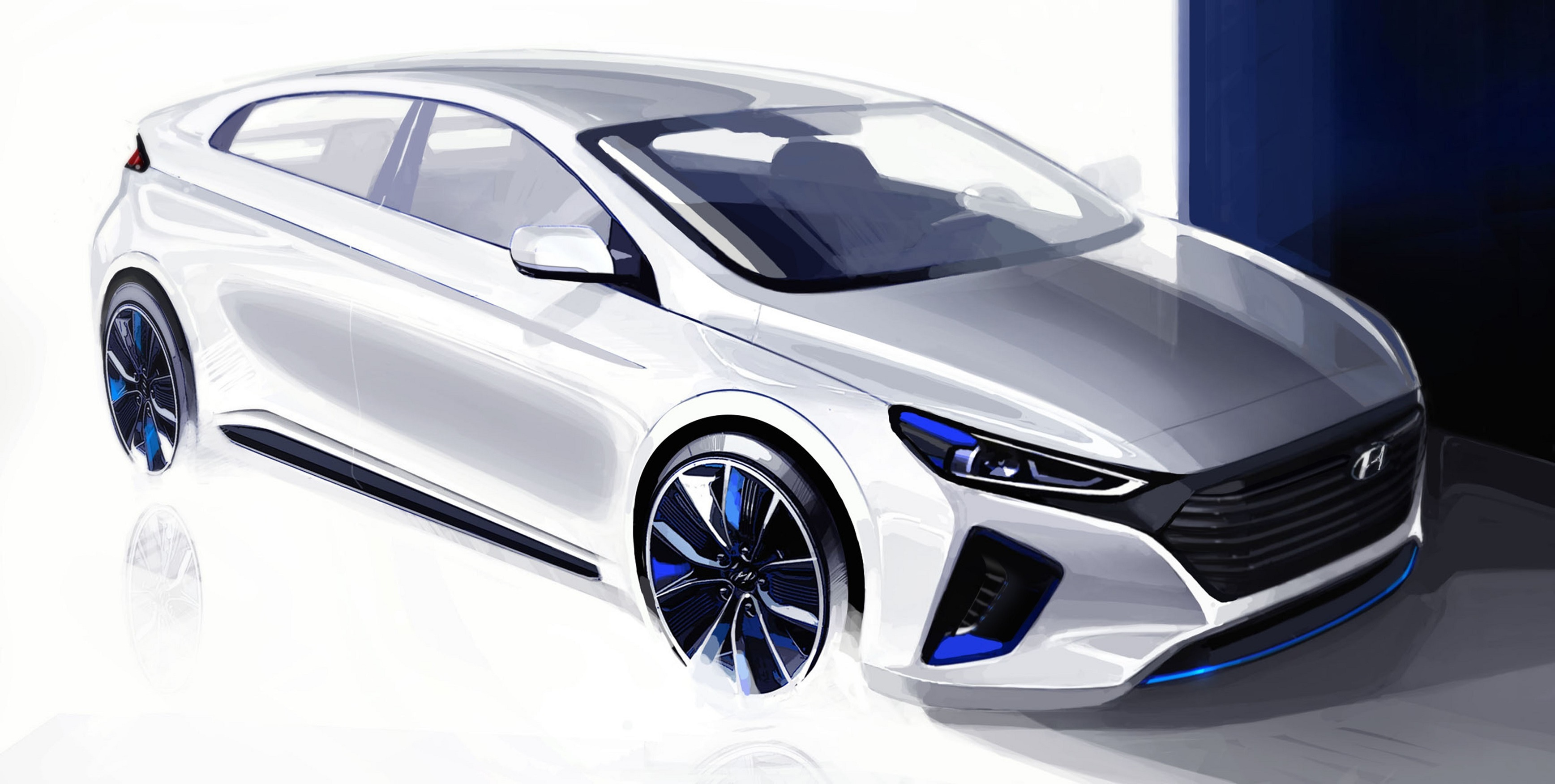 Hyundai IONIQ: due nuovi rendering