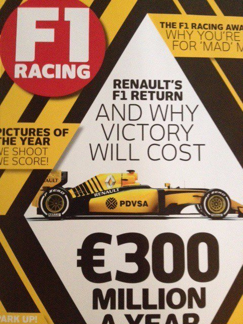 Renault F1: yellow livery in 2016