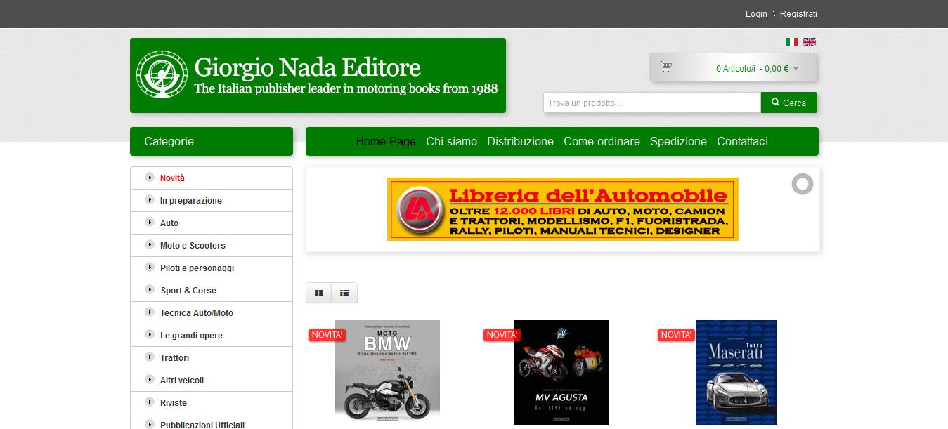 Il sito Giorgio Nada Editore si rinnova