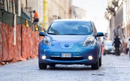 L'Aquila verso il futuro con Nissan LEAF