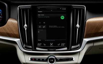 Volvo integra Spotify su tutti i modelli