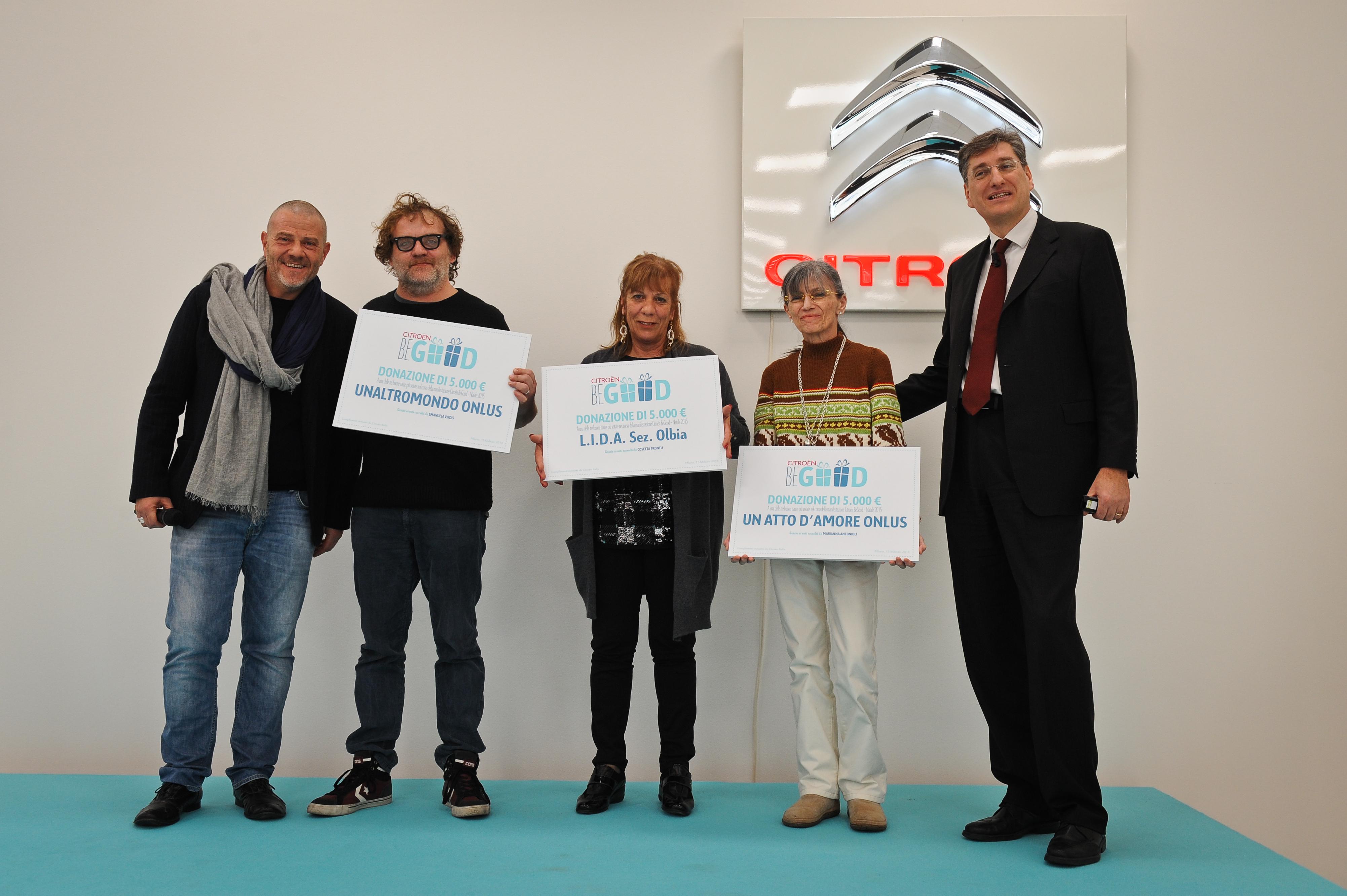 """Citroën """"Be Good"""": consegnati i premi"""