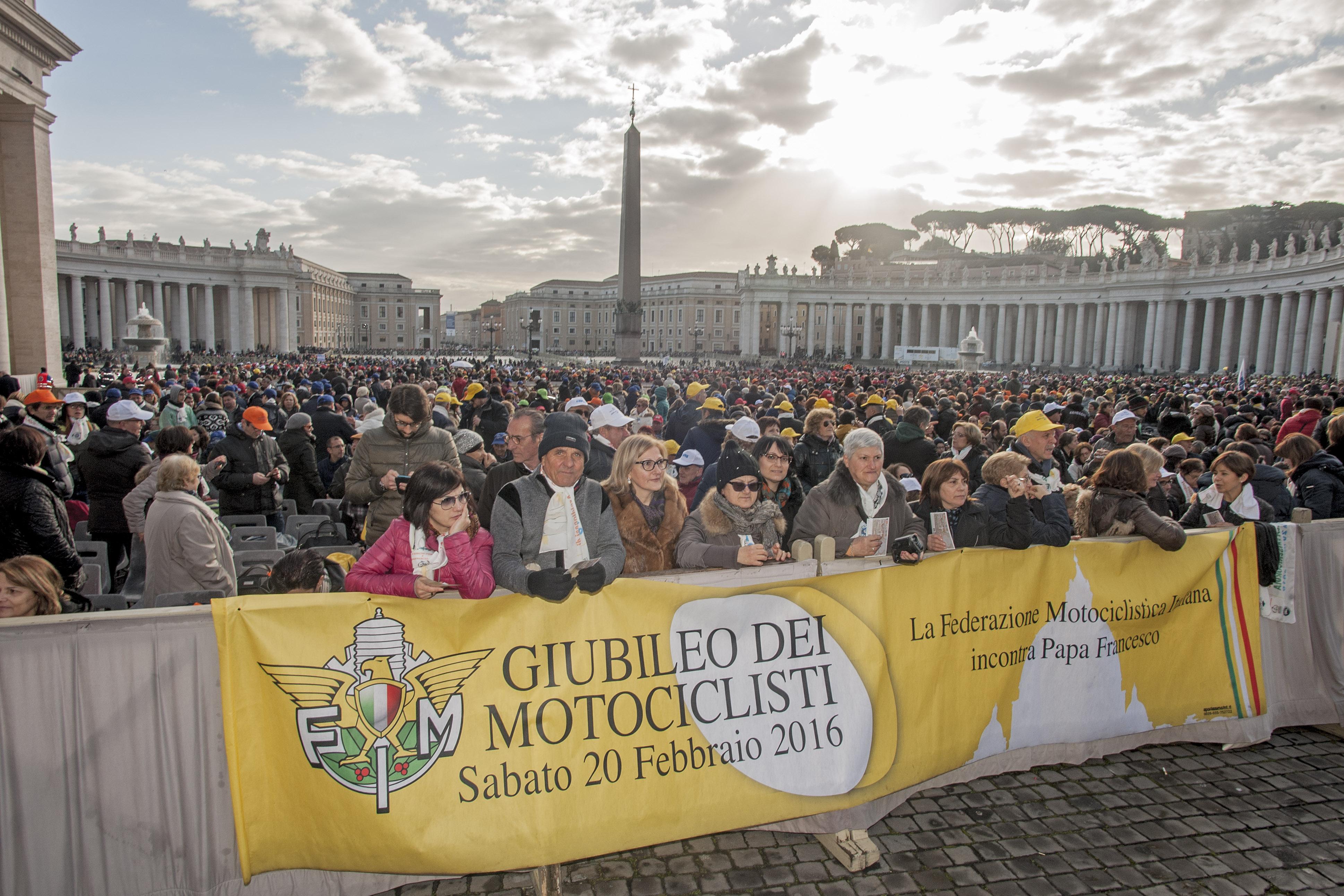I motociclisti FMI da Papa Francesco per il Giubileo