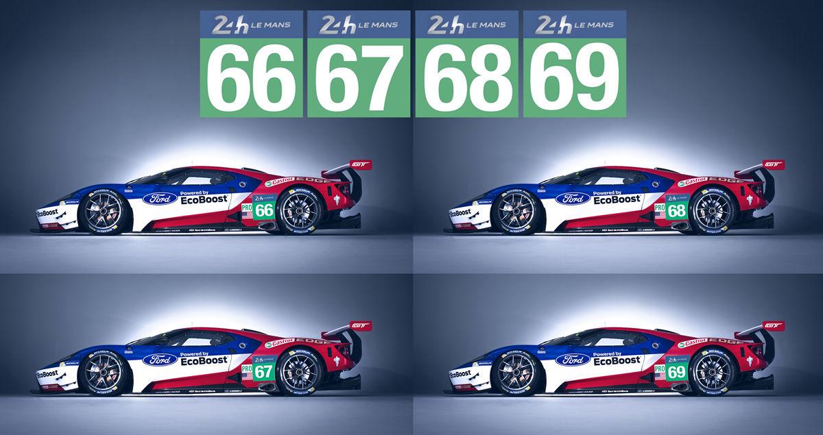 Quattro Ford GT alla 24 Ore di Le Mans
