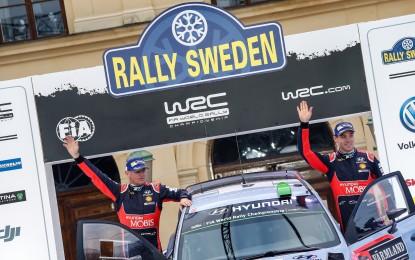 Svezia: Hyundai i20 WRC a podio