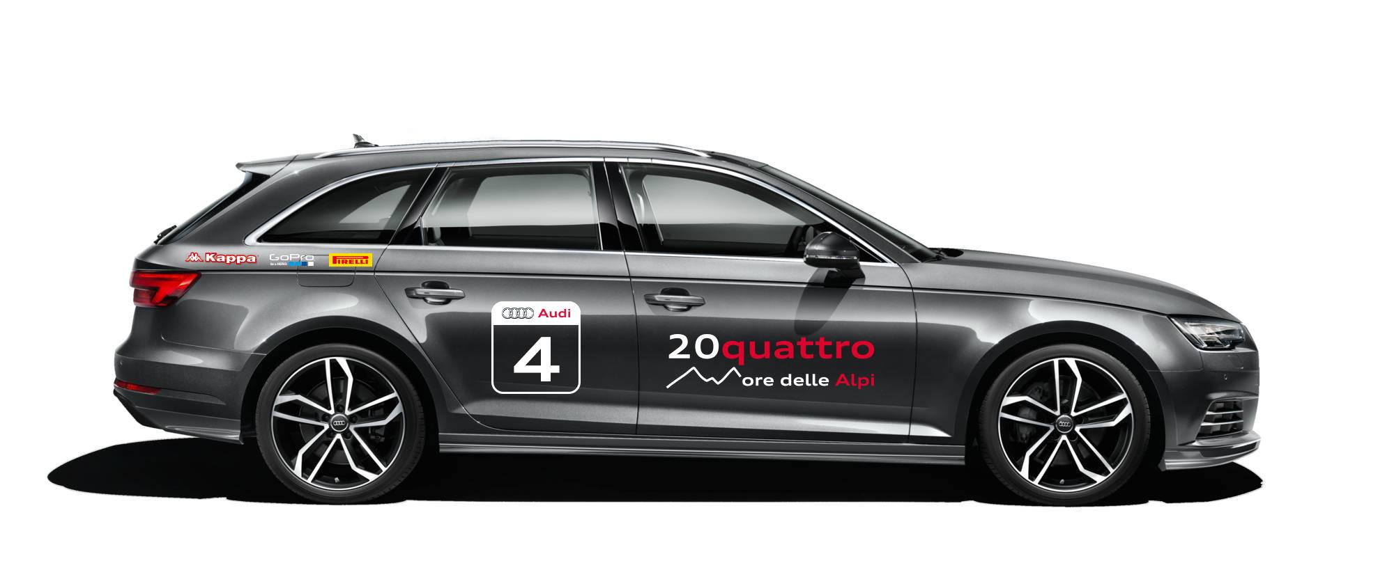 Audi A4 e la 20quattro ore delle Alpi