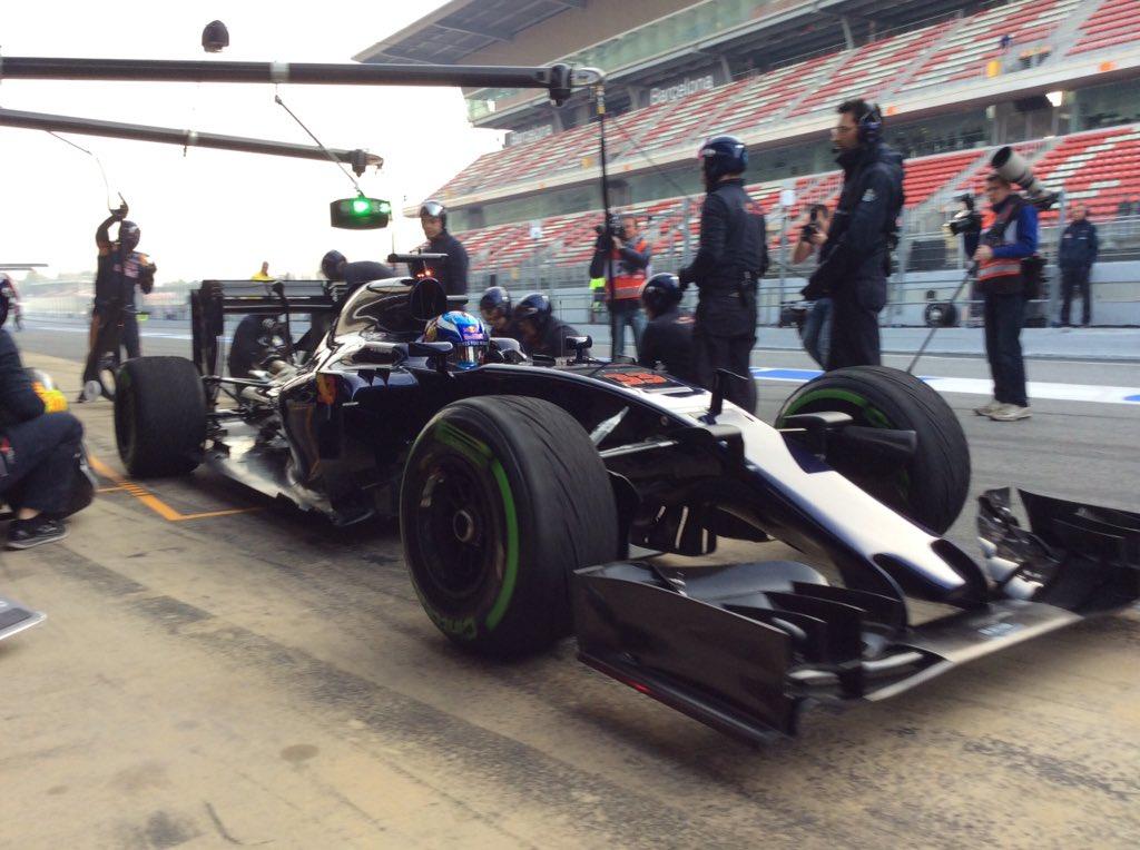 Tecnica: Toro Rosso soffiature sulle derive laterali