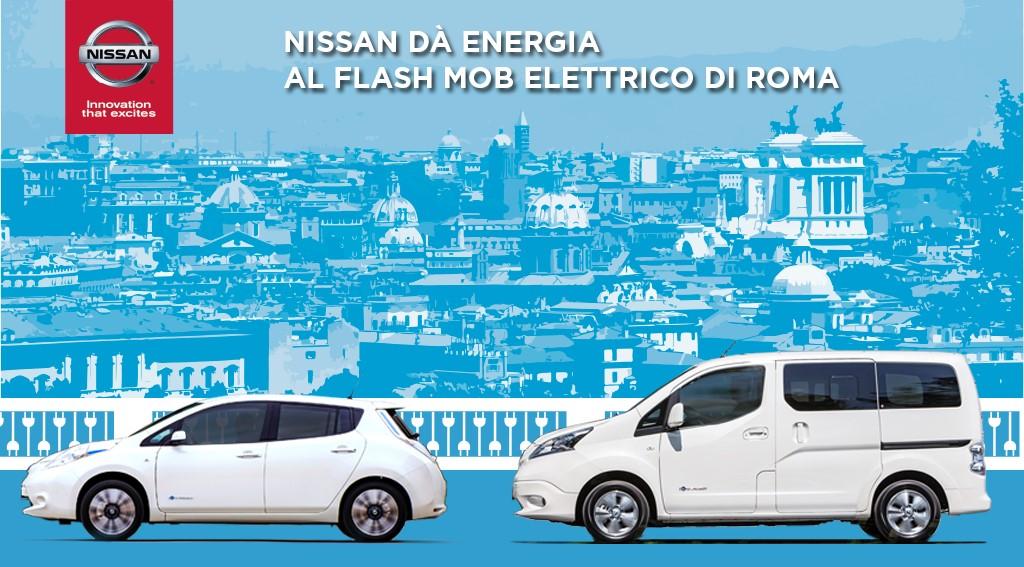 Nissan al Flash Mob Elettrico di Roma