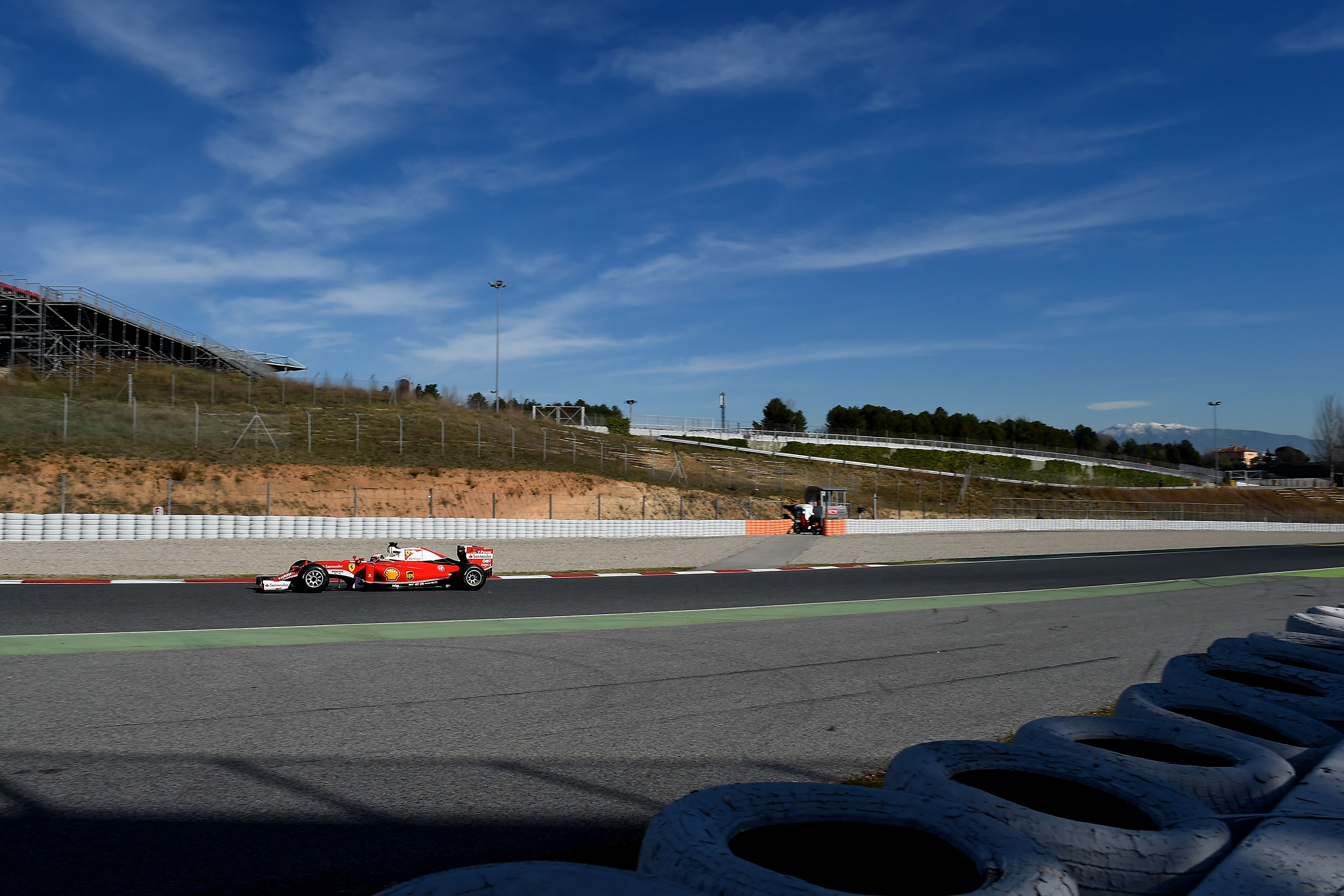 Vettel impegnato nei long run