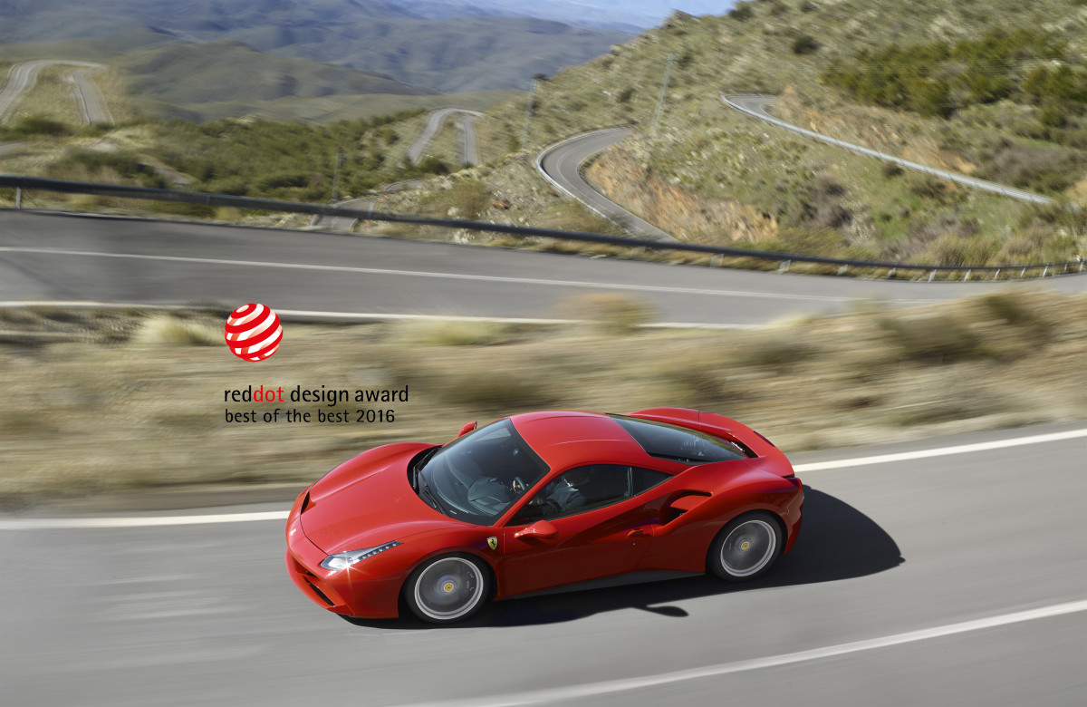 La 488 GTB vince il premio Red Dot