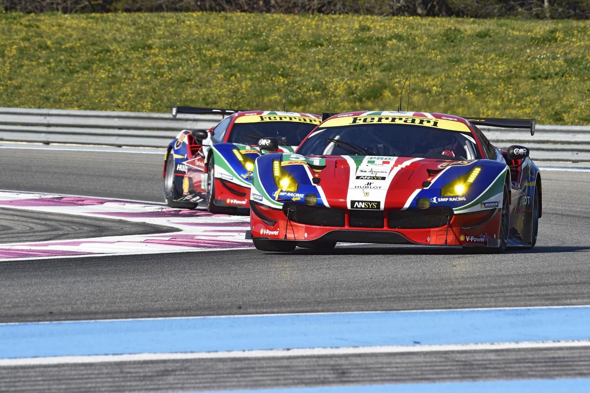 WEC: il punto Ferrari sul prologo del Paul Ricard