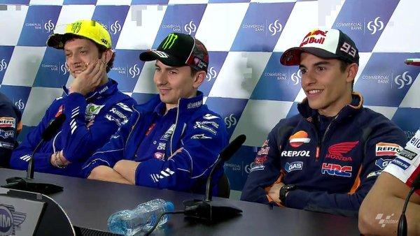 MotoGP: interviste a Rossi, Marquez e Lorenzo