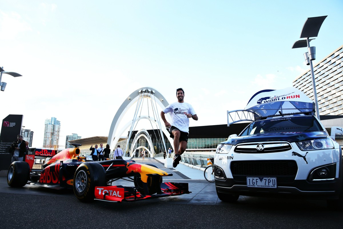 Ricciardo per la Wings for Life World Run