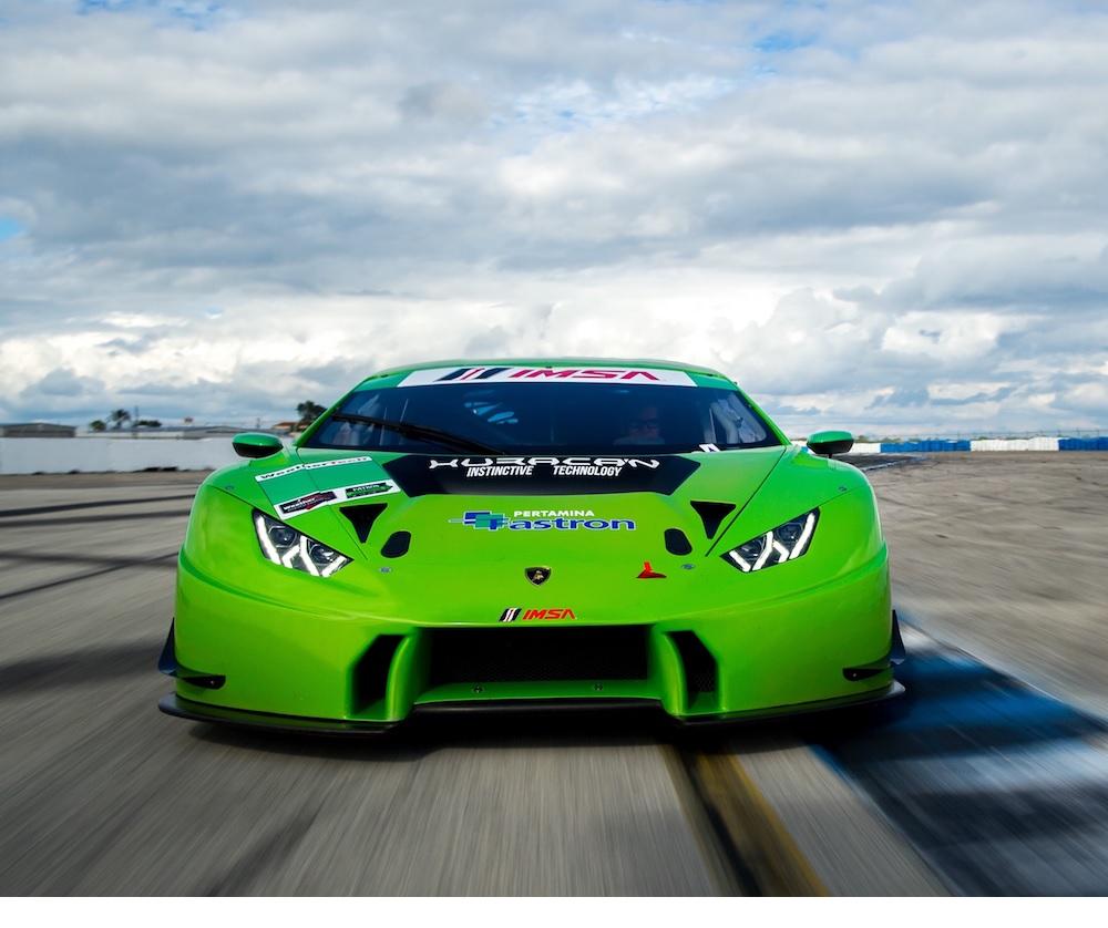 Sei Lamborghini Huracán GTD a Sebring
