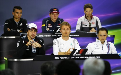 Bahrain: conferenza stampa FIA piloti
