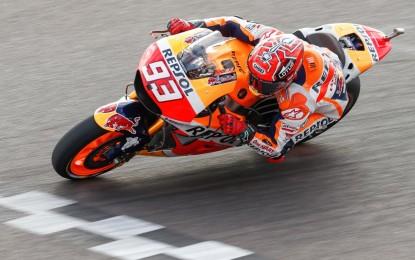 Argentina: pole di Marquez davanti alle Yamaha