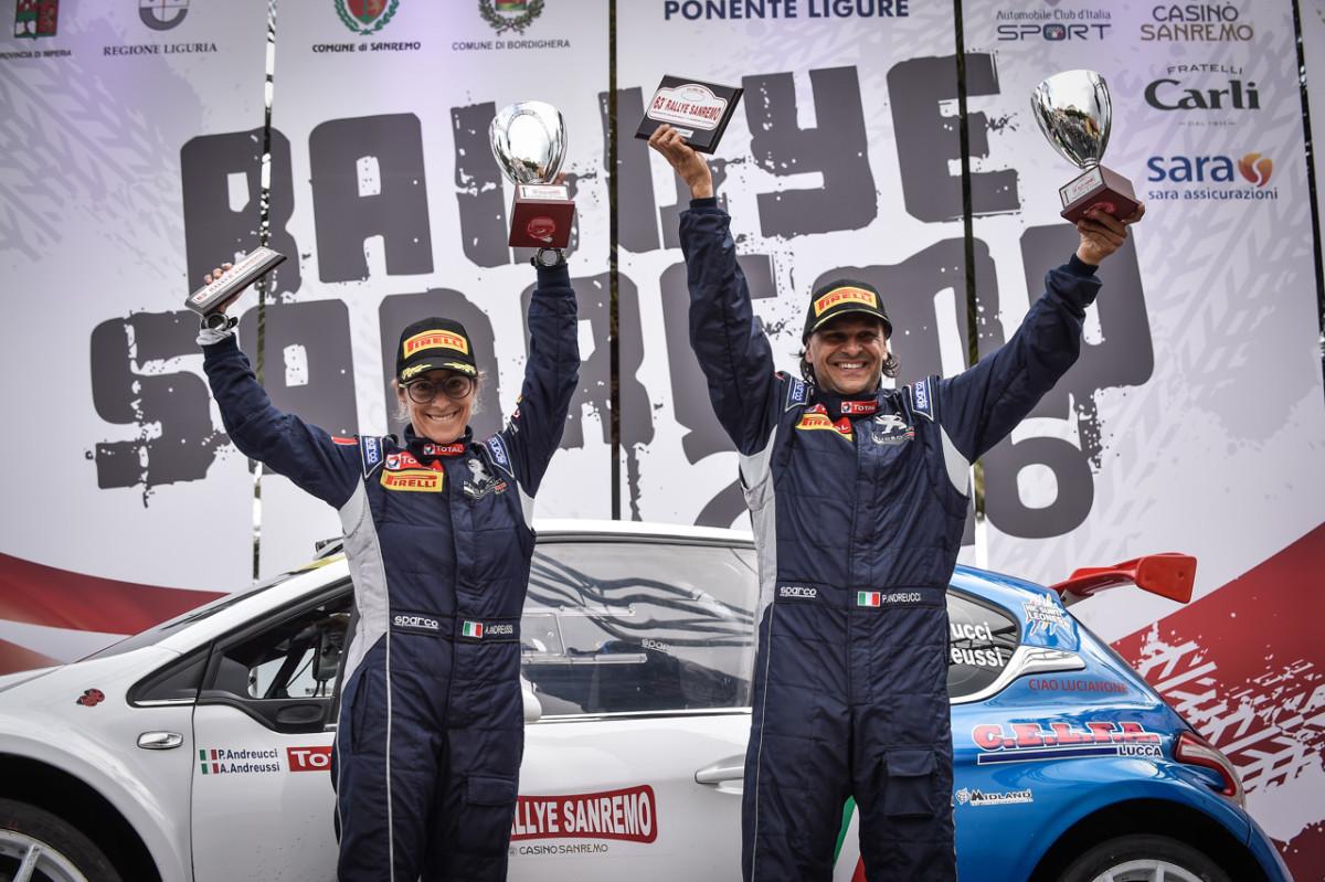 Peugeot 208 e Andreucci conquistano Sanremo