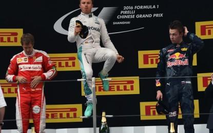 Cina: Rosberg domina davanti a Vettel e Kvyat