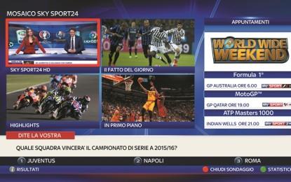 Mosaico interattivo per Sky Sport24HD