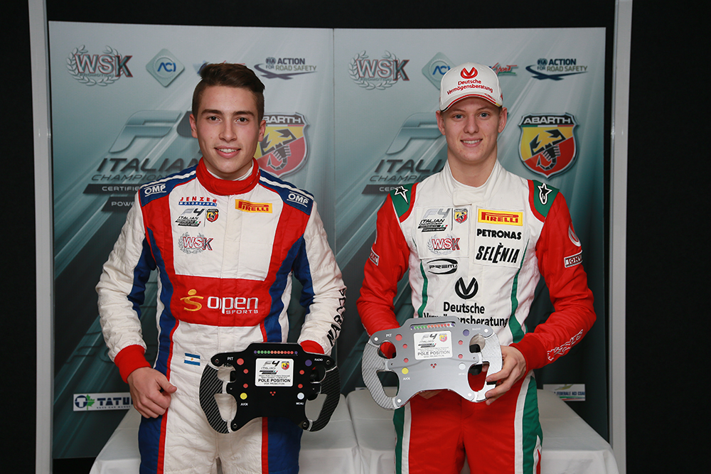 F4: pole per Siebert e Schumacher