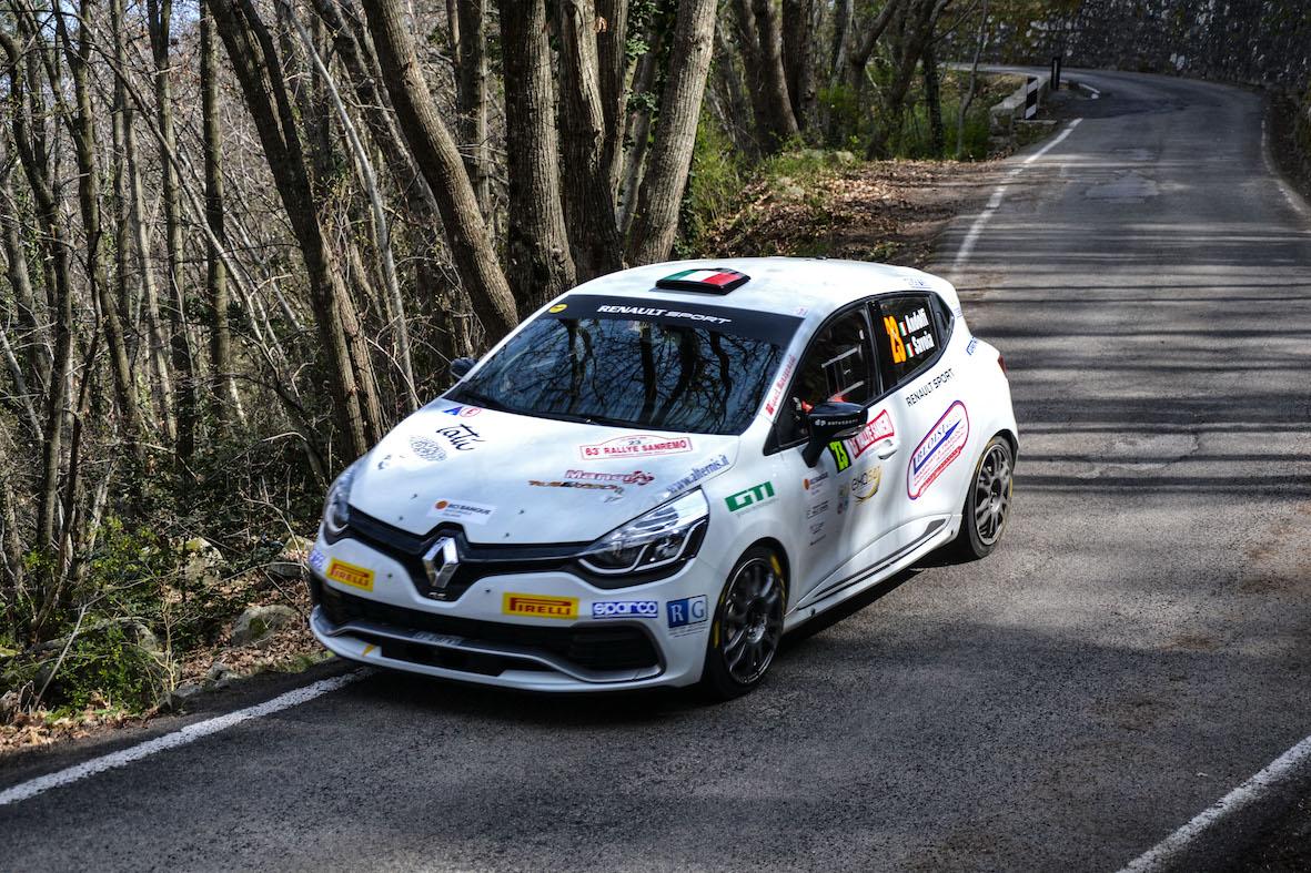 Sanremo: Panzani, Andolfi e bene la Twingo R1
