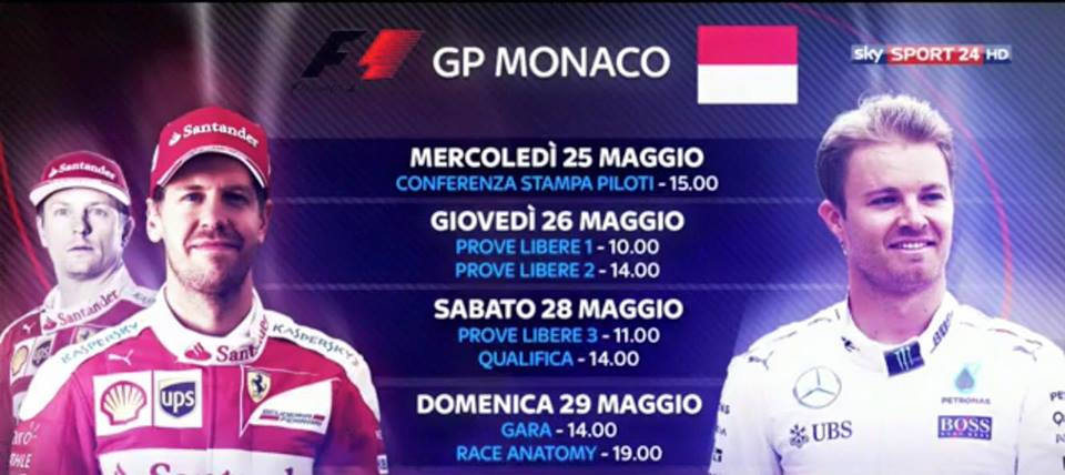 GP Monaco: da oggi via al weekend su Sky