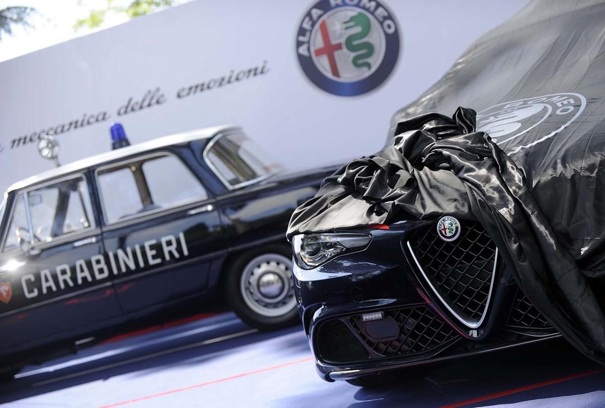 Nuova Giulia Quadrifoglio consegnata ai Carabinieri
