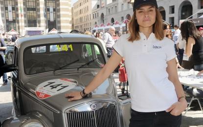 Lancia e Kasia Smutniak alla Mille Miglia 2016
