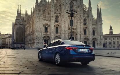 Alfa Romeo Giulia attrice a Milano