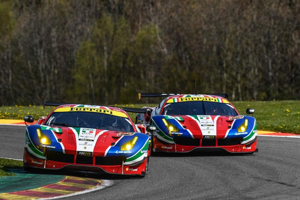 FIA WEC: pole di Rigon e prima fila Ferrari a Spa