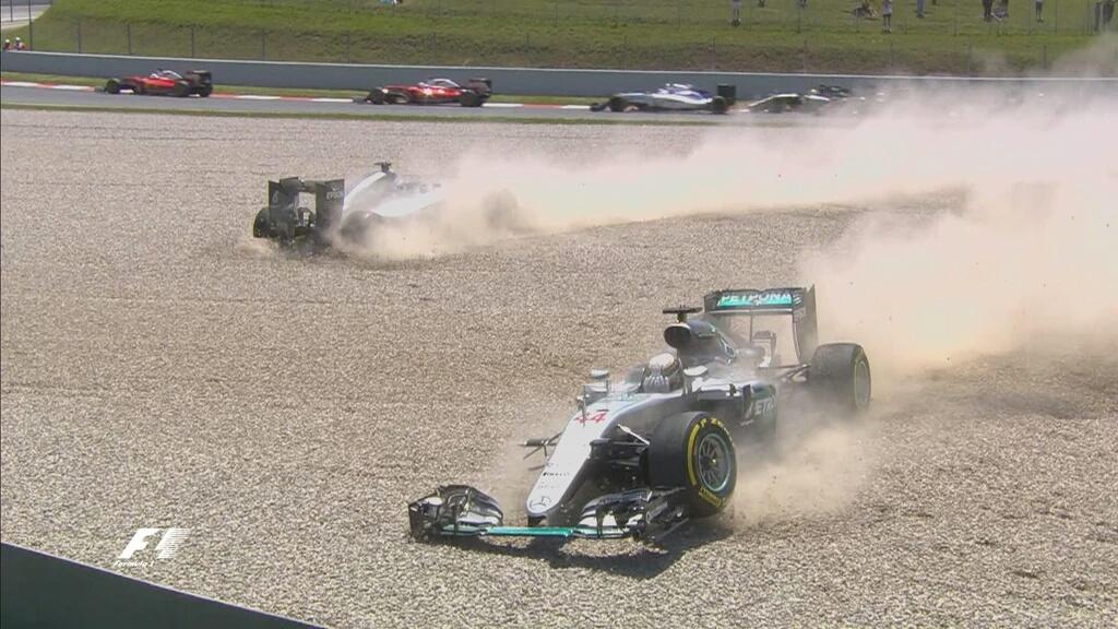 GP Spagna: Lauda, Zetsche e Wolff sull'incidente Rosberg-Hamilton